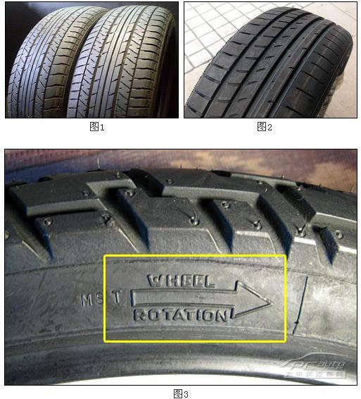 轮胎的对称花纹,不对称花纹