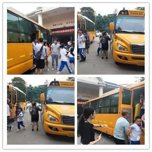 海伦堡学校校车逃生应急疏散演练